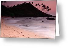 Cola Beach Sunset Greeting Card