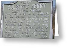 Colbert's Ferry Historical Sign Greeting Card