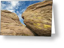 Colby's Cliff Greeting Card