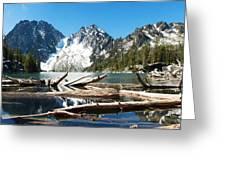 Colchuck Lake Panorama Greeting Card