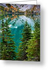 Colchuck Reflection Greeting Card