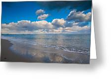 Cold And Windy Beach Day Greeting Card