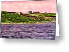 Cold Bay From The Dock Greeting Card