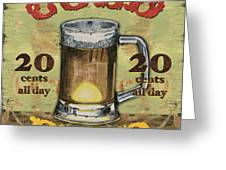 Cold Beer Greeting Card