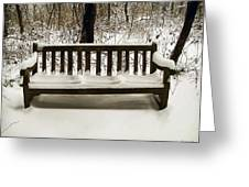 Cold Bench Greeting Card