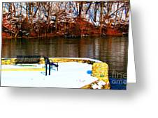 Cold Benches Greeting Card