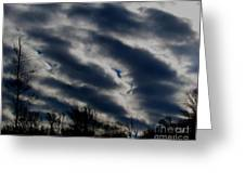 Cold Cloudscape Greeting Card