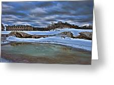 Cold Day At The Beach Greeting Card