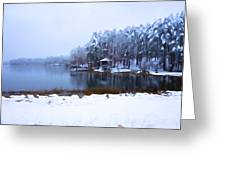 Cold Feet - A Winter Landscape Greeting Card