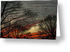 Cold Front Sunset Greeting Card