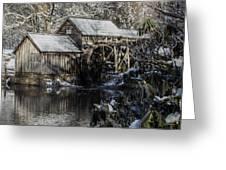Winter Mill Greeting Card