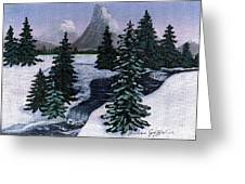 Cold Mountain Brook Greeting Card