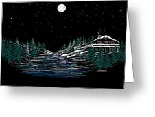 Cold Mountain Winter Greeting Card