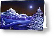 Cold Night Greeting Card