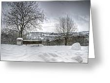 Cold Seat With A View Greeting Card