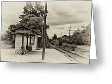 Cold Spring Train Station In Sepia Greeting Card
