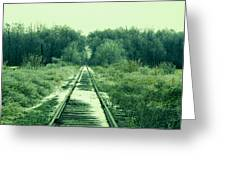 Cold Steel Rails Greeting Card