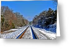 Cold Tracks Greeting Card