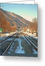 Cold Tracks Through Montgomery Greeting Card