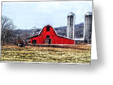 Cold Winter Day At The Farm Greeting Card