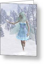 Cold Winter Fairy Greeting Card