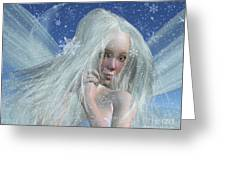 Cold Winter Fairy Portrait Greeting Card