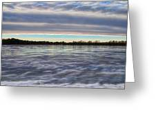 Cold Winter Frozen Bog Greeting Card