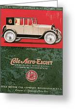 Cole Aero Eight Vintage Poster Greeting Card