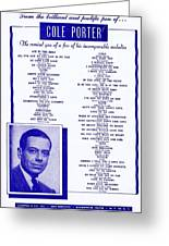 Cole Porter Greeting Card