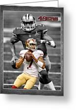 Colin Kaepernick 49ers Greeting Card by Joe Hamilton
