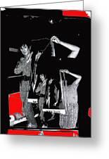 Collage Body Talk Poster Prize Jello Wrestling Contest Gay Bar Tucson Arizona 1992 Greeting Card