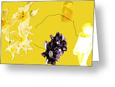 Collage In Yellow Greeting Card