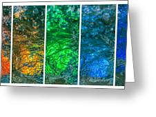 Collage Liquid Rainbow 4 - Featured 3 Greeting Card