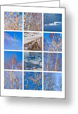 Collage March - Featured 3 Greeting Card
