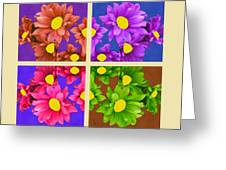 Collage Of Colors Greeting Card