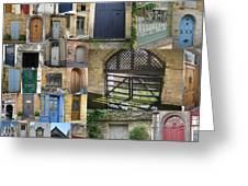 Collage Of Doors Greeting Card