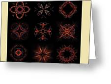 Collage Of Fractals Greeting Card