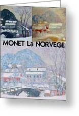 Collage Of Monet's Norwegian Works Greeting Card
