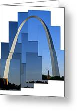 Collage Of St Louis Arch Greeting Card
