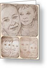 Collage Portraits Greeting Card