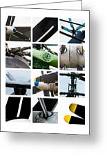 Collage Propeller - Featured 2 Greeting Card
