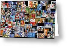 Collage Snowman Horz Photo Art Greeting Card