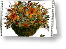 Collage With Wild Flowers Greeting Card