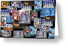 Collage Xmas Cards Horz Photo Art Greeting Card