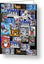 Collage Xmas Cards Vertical Photo Art Greeting Card