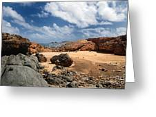 Collapsed Natural Bridge Aruba Greeting Card