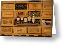 Collection Of Wines And Armagnac Greeting Card