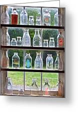 Collector - Bottles - Milk Bottles  Greeting Card