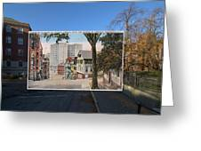 College Street To Market Square In Providence Ri Greeting Card