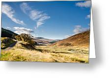 College Valley And Lambden Burn Greeting Card
